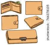 vector set of cartoon beige... | Shutterstock .eps vector #766378105