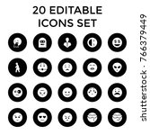 character icons. set of 20...   Shutterstock .eps vector #766379449