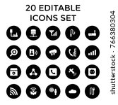 connection icons. set of 20... | Shutterstock .eps vector #766380304