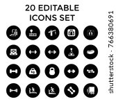 weight icons. set of 20... | Shutterstock .eps vector #766380691
