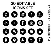 professional icons. set of 20... | Shutterstock .eps vector #766380721