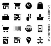 origami style icon set   store... | Shutterstock .eps vector #766388404