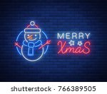 merry christmas  welcome card ... | Shutterstock .eps vector #766389505