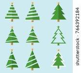 vector christmas tree | Shutterstock .eps vector #766392184