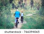active senior with grandson... | Shutterstock . vector #766394065