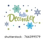 hello december vector... | Shutterstock .eps vector #766399579