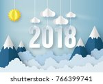 illustration of happy new year... | Shutterstock .eps vector #766399741