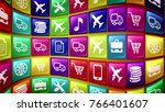 an abstract 3d rendering of...   Shutterstock . vector #766401607