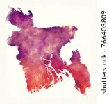 bangladesh watercolor map in... | Shutterstock . vector #766403809