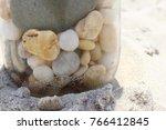 Beach Pebbles In A Jar