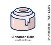 cinnamon rolls leneal color... | Shutterstock .eps vector #766413391
