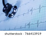 stethoscope and...   Shutterstock . vector #766413919