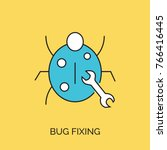 bug fix vector thin line icon | Shutterstock .eps vector #766416445