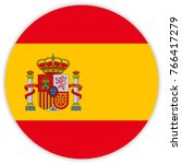 round flag of spain. circle... | Shutterstock .eps vector #766417279