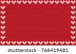red fabric knitted background... | Shutterstock . vector #766419481