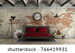 master bedroom in industrial... | Shutterstock . vector #766419931