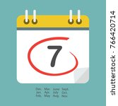 calendar icon with date. modern ... | Shutterstock .eps vector #766420714