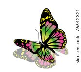 Stock vector vector butterfly 76642321