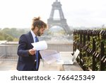 administrator of tourist... | Shutterstock . vector #766425349