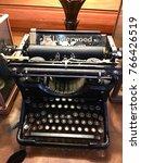 01 12 60 ancient typewriter... | Shutterstock . vector #766426519