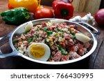 tropeiro beans  traditional... | Shutterstock . vector #766430995