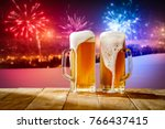 beer and new year time  | Shutterstock . vector #766437415