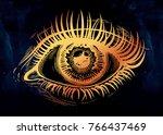 beautiful realistic eye of a...   Shutterstock .eps vector #766437469