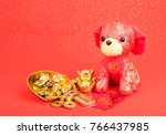 tradition chinese cloth doll... | Shutterstock . vector #766437985