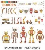 robot character body parts... | Shutterstock .eps vector #766439041