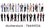 young attractive business... | Shutterstock . vector #76644526