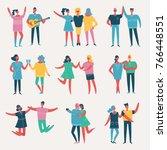 vector illustration in a flat... | Shutterstock .eps vector #766448551