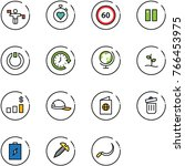 line vector icon set   traffic... | Shutterstock .eps vector #766453975