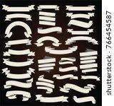 retro vintage ribbons... | Shutterstock .eps vector #766454587