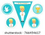 cute set of printable elements... | Shutterstock .eps vector #766454617