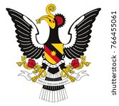 flag and coat of arms of sarawak | Shutterstock .eps vector #766455061