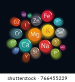 20 minerals  microelements and... | Shutterstock .eps vector #766455229