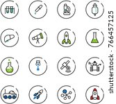 line vector icon set   vial... | Shutterstock .eps vector #766457125