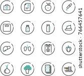 line vector icon set   doctor... | Shutterstock .eps vector #766457641