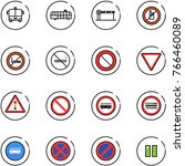 line vector icon set   airport... | Shutterstock .eps vector #766460089