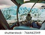 helicopter cockpit flying on...   Shutterstock . vector #766462549