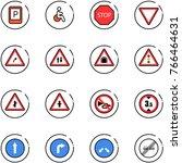 line vector icon set   parking... | Shutterstock .eps vector #766464631