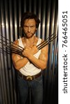 Small photo of January 2017: Photo of Wolverine from famous wax museum of Madame Tussaud in center of London, United Kingdom