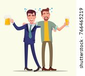 drunk office man vector. funny... | Shutterstock .eps vector #766465219