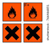 extremely flammable and harmful ... | Shutterstock . vector #766466851