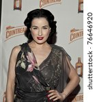 NEW YORK - MAY 05: Dita Von Teese attends launch of her new signature cocktail 'The Cointreau MargaDita' at Los Feliz restaurant on May 05, 2011 in New York City - stock photo