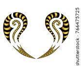 tattoo tribal maori vector... | Shutterstock .eps vector #766475725
