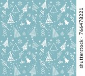 christmas vector seamless... | Shutterstock .eps vector #766478221