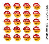 sale tag set. 10 20 30 40 50 60 ... | Shutterstock .eps vector #766486531