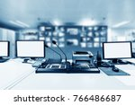 modern plant control room and... | Shutterstock . vector #766486687