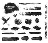 vector hand drawn various black ... | Shutterstock .eps vector #766488304